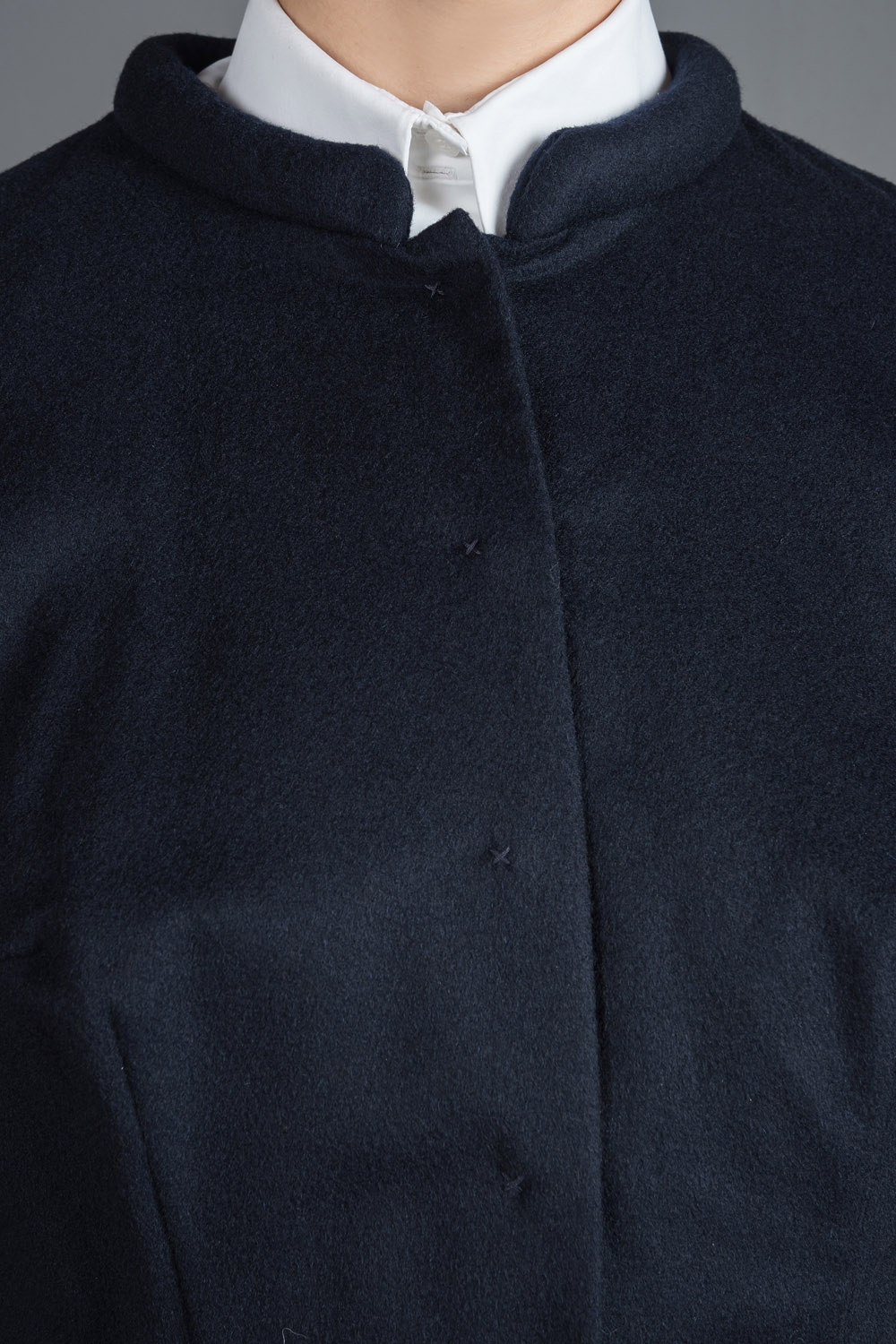 Navy blue cashmere coat